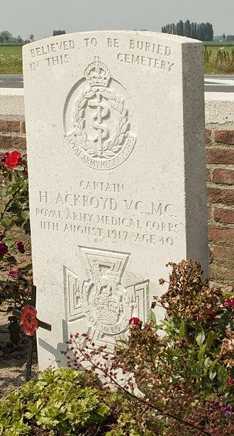 Harold Ackroyd - Ackroyd's CWGC headstone
