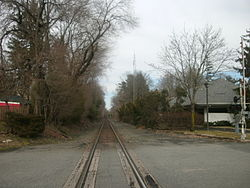 The former Harrington Park station on the New York Central Railroad's West Shore Railroad.