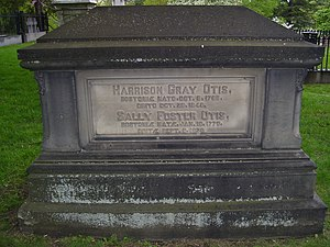 Harrison Gray Otis (politician) - Image: Harrison Gray Otis grave