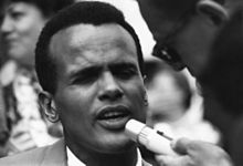 Harry Belafonte in gioventù.
