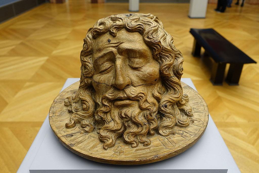 Tête de Jean Baptiste sur un plateau (Pays Bas vers 1430).