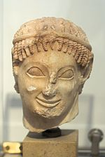 Head young ma from Eleusis marble 560 BC NAMA 61 102531.jpg
