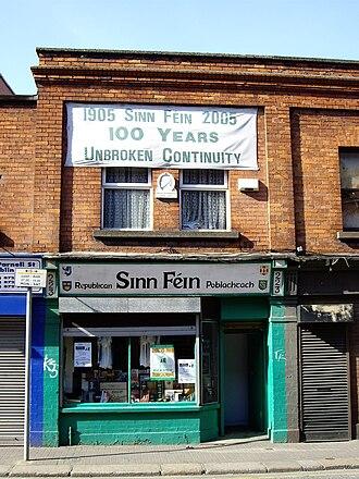 History of Sinn Féin - Headquarters of Republican Sinn Féin: Teach Dáithí Ó Conaill, 223 Parnell Street, Dublin