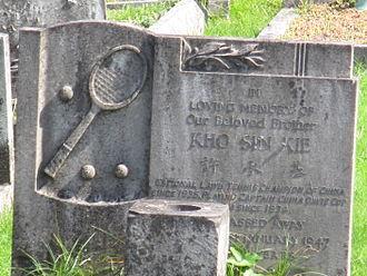 Kho Sin-Kie - Headstone of Kho's grave