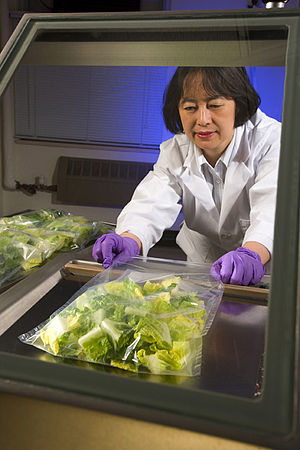 Shelf life - Package testing: Heat sealing film for evaluation of shelf life of lettuce
