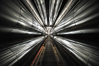 District heating - Underground tunnel for heat pipes between Rigshospitalet and Amagerværket in Denmark
