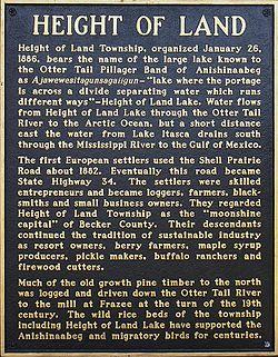 Height Of Land Township Becker County Minnesota Wikipedia - Land height