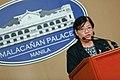 Helen dela Vega - Malacañan Press Briefing (01).jpg