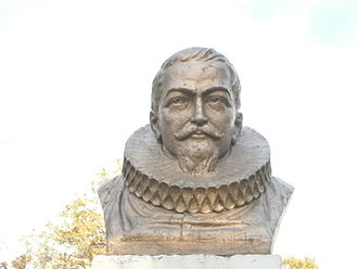 Bergen, New Netherland - Bust of Henry Hudson in Jersey City Heights