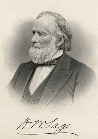 Henry W. Sage - Image: Henry W. Sage 2