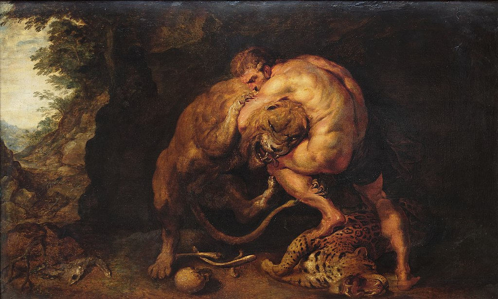 Heracles and the Nemea Lion Pieter Paul Rubens