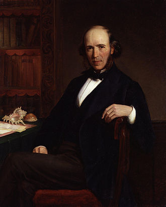 Herbert Spencer - Portrait of Spencer by Burgess, 1871–72