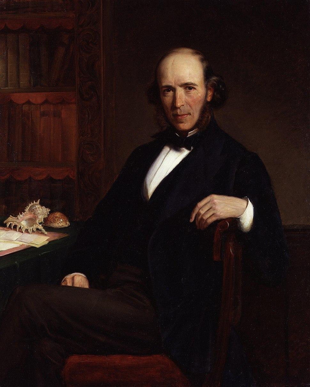 Herbert Spencer by John Bagnold Burgess
