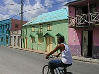 A street in Barbados