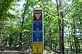 Hiking trails post sign Douthat State park (31502166446).jpg