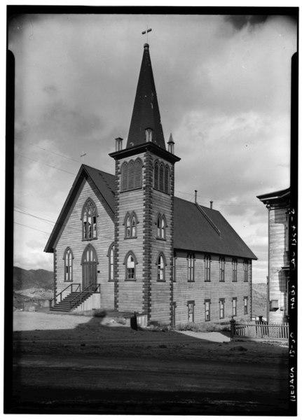 File:Historic American Buildings Survey Robert W. Kerrigan, Photographer May 1936 - Episcopal Church, D Street, Virginia City, Storey County, NV HABS NEV,15-VIRG,27-2.tif