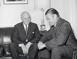 Robert McNamara - McNamara with Australian Prime Minister Harold Holt at The Pentagon in July 1966