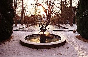 Holywell Manor, Oxford - The Manor gardens.