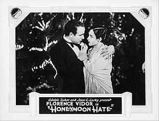 <i>Honeymoon Hate</i> 1927 film by Luther Reed