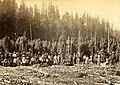 Hop pickers in McCratey's Hop Field, Washington, circa 1889-1891 (BOYD+BRAAS 129).jpg