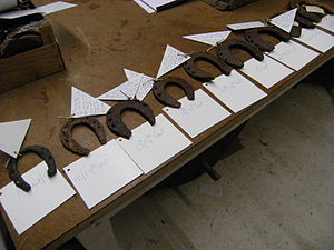 Horseshoe - English horseshoes from the 11th to the 19th centuries