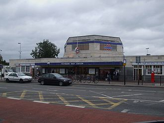 Hounslow West tube station - The current Hounslow West station building, which was retained when the platforms were resited underground.