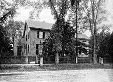 La demeure familiale de Thoreau, en 1860.