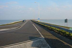 Markermeer - Houtribdijk - a dam between IJsselmeer and Markermeer