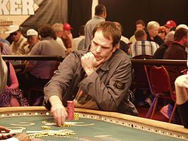 Lederer tijdens de World Series of Poker 2004