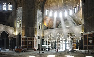 Church of Saint Sava - Interior under construction