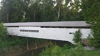 Anderson River (Indiana) - A covered bridge over the river, along the Perry/Spencer county line