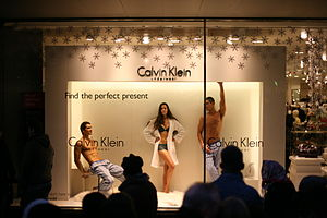 Calvin Klein in London used human models in it...