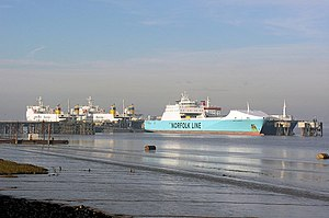 North Killingholme Haven - Humber Sea Terminal from the east (2007)