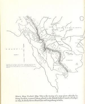 Macartney–MacDonald Line - Image: Hung Ta Chen's Map