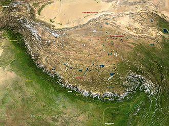 Pre-collisional Himalaya - Image: Hymalayas 86.15103E 31.99726N