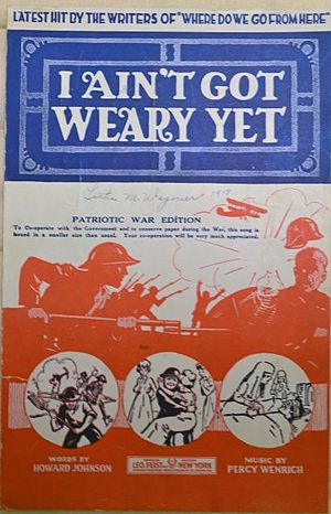 I Ain't got Weary Yet! - Sheet Music cover
