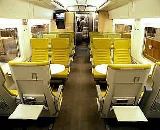 InterCityExperimental - Image: ICE V Seating 2nd empty