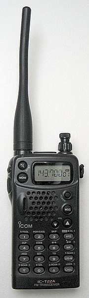File:ICOM IC-T22A 2m band handheld transceiver.jpg