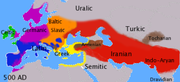 Indo-European scope c. 500 AD