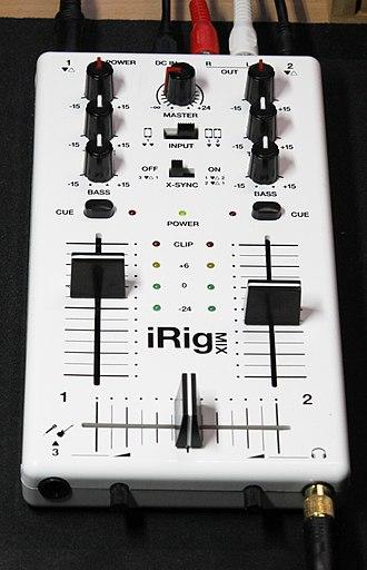 DJ mixer - An iRig Mix DJ mixer
