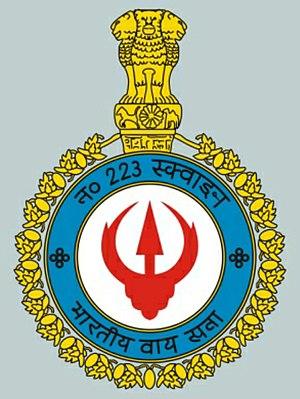 "No. 223 Squadron IAF - Badge of No. 223 Squadron IAF""The Tridents"""
