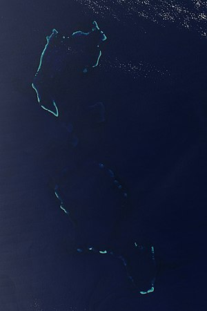 Chesterfield Islands - Chesterfield Islands from space
