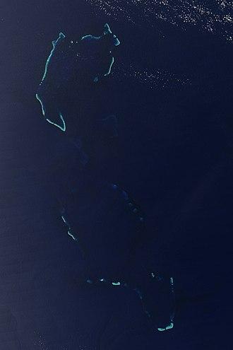 Chesterfield Islands - Chesterfield Islands from space