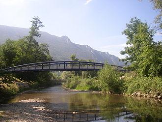 Le Bourget-du-Lac - The river Leysse close to the commune.