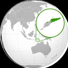Lage von Osttimor