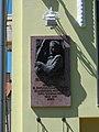 Imre Gyula Izsák relief, Kosztolányi Dezső Street, 2020 Zalaegerszeg.jpg