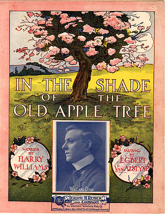 In the Shade of the Old Apple Tree - 1905 sheet music cover
