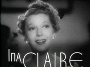 Ina Claire - from the trailer for the film Ninotchka (1939)
