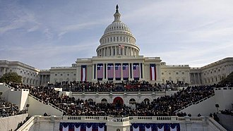 United States presidential inauguration - Presidential inauguration at the western front of the U.S. Capitol (Barack Obama, 2009)