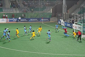Dhyan Chand National Stadium - Image: Indian Hockey Game Snapshot
